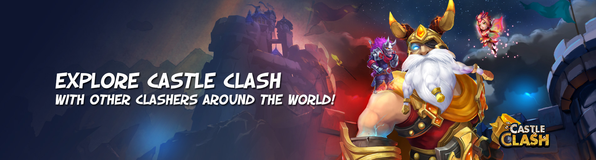 Explore Castle Clash with other Clashers around the world