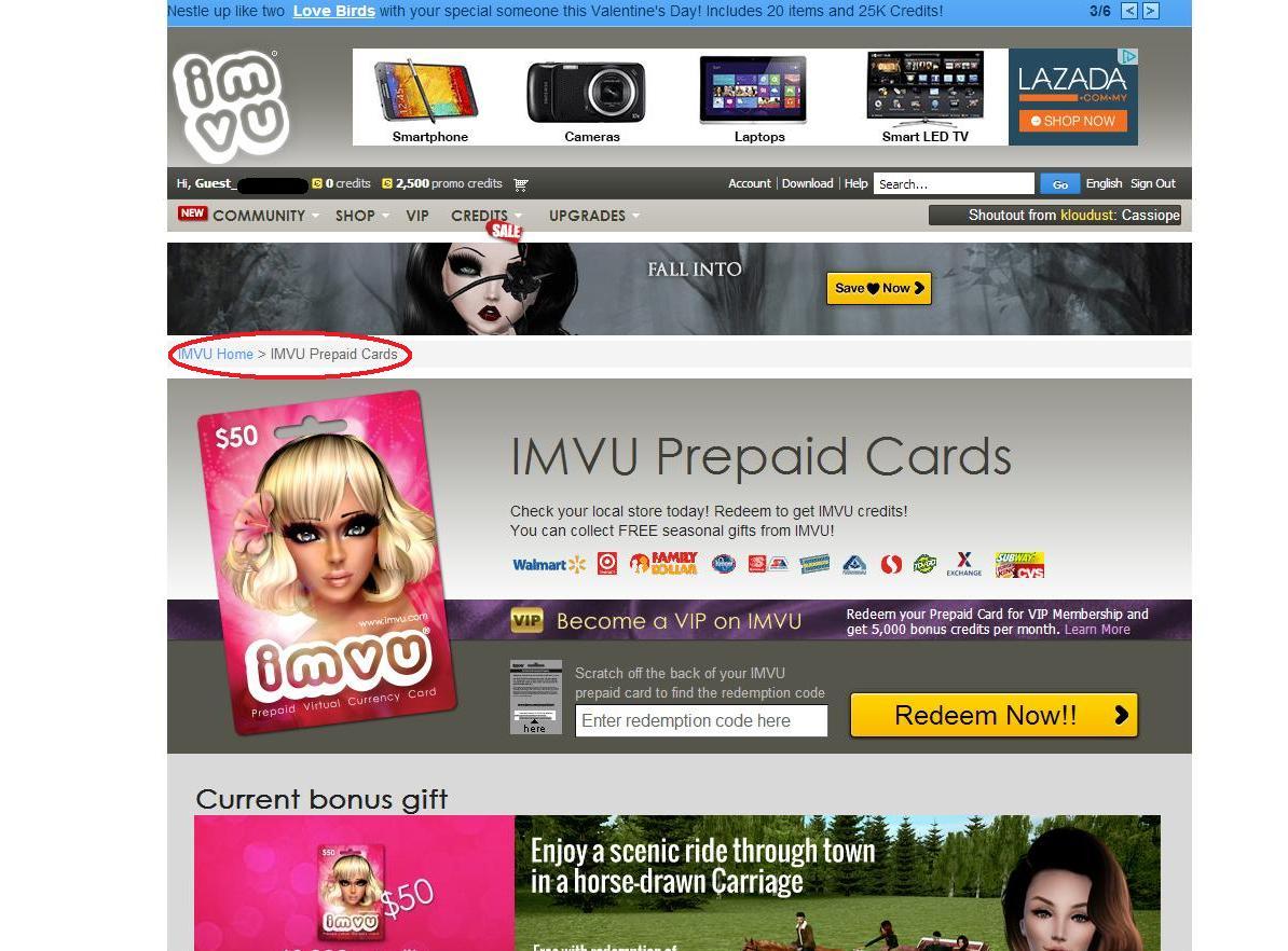 Buy IMVU Prepaid Card - OffGamers Online Game Store